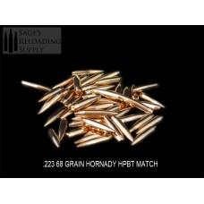 .224 68gr Hornady HPBT MATCH (100CT) (Bulk Packaging)