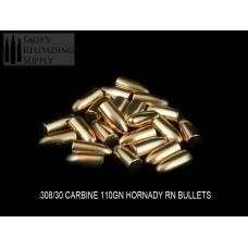 .308 110gr Hornady 30 Carbine RN/FMJ (100CT) (Bulk Packaged)