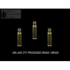 .308 Lake City Processed Standard Grade Brass(Matching 2011 YEAR) (100CT)