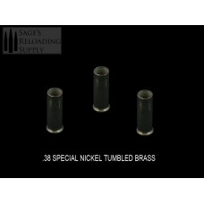 .38 Special Nickel Tumbled Brass (100CT)