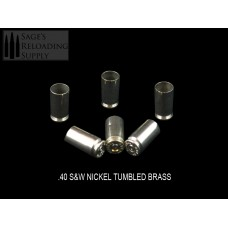 .40 S&W Tumbled Nickel Brass (500CT)