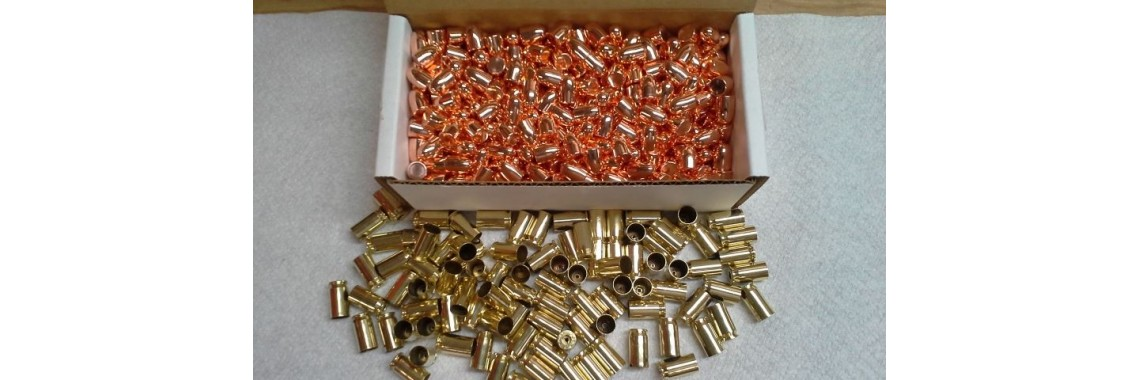 230gr Xtreme RN Bullets / Tumbled 45 Large Pistol Brass (500CT)