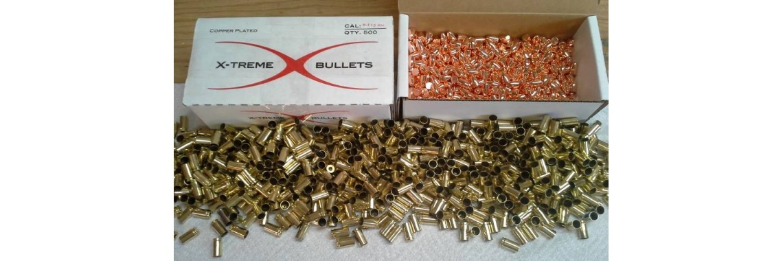 9mm 115gr Xtreme HP Bullets (1000CT) 9mm Tumbled Brass (1000CT)