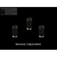 9mm Tumbled Nickel Brass (500CT)
