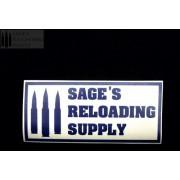 Sage's Reloading Supply Official Sticker (LARGE) (BLUE)