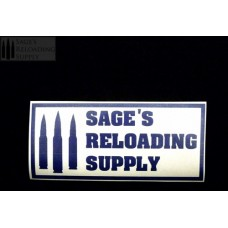 Sage's Reloading Supply Official Sticker (LARGE) (BLUE)