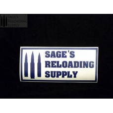 Sage's Reloading Supply Official Sticker (SMALL) (BLUE)
