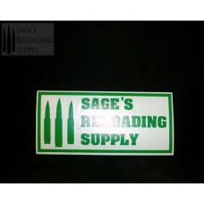 Sage's Reloading Supply Official Sticker (LARGE) (GREEN)