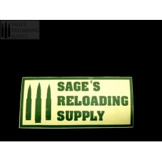 Sage's Reloading Supply Official Sticker (LARGE) (FOREST GREEN)