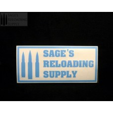 Sage's Reloading Supply Official Sticker (LARGE) (LIGHT BLUE)