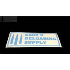 Sage's Reloading Supply Official Sticker (SMALL) (LIGHT BLUE)