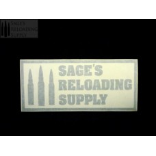 Sage's Reloading Supply Official Sticker (LARGE) (LIGHT GRAY)
