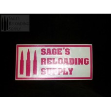 Sage's Reloading Supply Official Sticker (LARGE) (PINK)