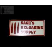 Sage's Reloading Supply Official Sticker (LARGE) (FLAG RED)