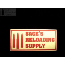 Sage's Reloading Supply Official Sticker (LARGE) (TOMATO RED)