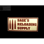 Sage's Reloading Supply Official Sticker (SMALL) (FLAG RED)