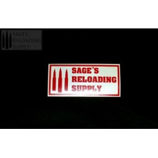 Sage's Reloading Supply Official Sticker (SMALL) (TOMATO RED)