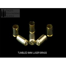 9mm Tumbled Brass (500CT)