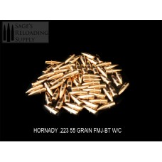 .224 55gr Hornady FMJ-BT W/C (1000CT) PRE-PACKAGED SPECIAL