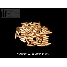 .224 55gr Hornady SOFT POINT W/C (1000CT) PRE-PACKAGED SPECIAL