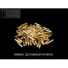 .224 75gr Hornady BT-HP MATCH (100CT) (Bulk Packaging)