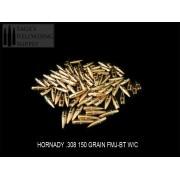 .308 150gr Hornady FMJ-BT W/C (100CT) (Bulk Packaging)