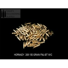 .308 150gr Hornady FMJ-BT W/C (500CT) PRE-PACKAGED SPECIAL