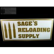 Sage's Reloading Supply Official Sticker (LARGE) (GOLD)