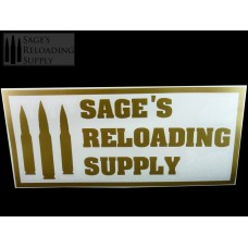 Sage's Reloading Supply Official Sticker (LARGE) (GOLD)