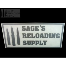 Sage's Reloading Supply Official Sticker (LARGE) (SILVER)