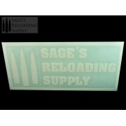 Sage's Reloading Supply Official Sticker (LARGE) (WHITE)
