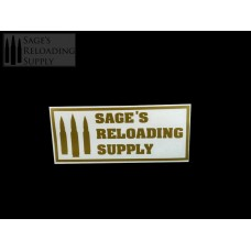 Sage's Reloading Supply Official Sticker (SMALL) (GOLD)