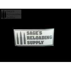 Sage's Reloading Supply Official Sticker (SMALL) (SILVER)