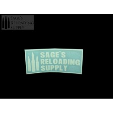 Sage's Reloading Supply Official Sticker (SMALL) (WHITE)