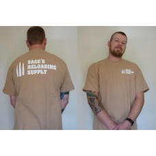 Sage's Reloading Supply Official T-Shirt Tan (LARGE)